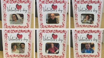 Wigan care home Residents make Valentine's Day cards for loved ones
